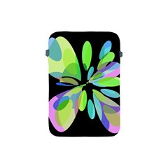 Green abstract flower Apple iPad Mini Protective Soft Cases
