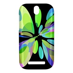 Green abstract flower HTC One SV Hardshell Case