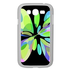 Green abstract flower Samsung Galaxy Grand DUOS I9082 Case (White)