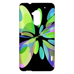 Green abstract flower HTC One Max (T6) Hardshell Case