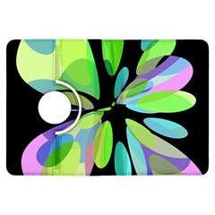Green abstract flower Kindle Fire HDX Flip 360 Case