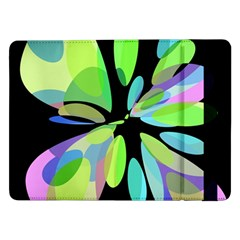 Green abstract flower Samsung Galaxy Tab Pro 12.2  Flip Case