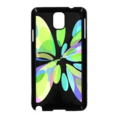Green abstract flower Samsung Galaxy Note 3 Neo Hardshell Case (Black)
