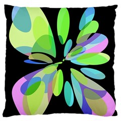 Green abstract flower Standard Flano Cushion Case (One Side)