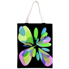 Green abstract flower Classic Light Tote Bag