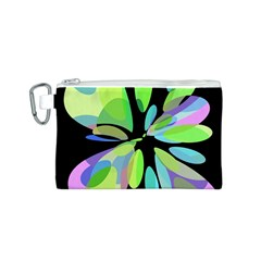 Green abstract flower Canvas Cosmetic Bag (S)