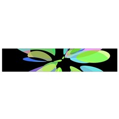 Green abstract flower Flano Scarf (Small)