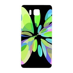 Green abstract flower Samsung Galaxy Alpha Hardshell Back Case