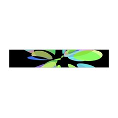 Green abstract flower Flano Scarf (Mini)