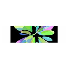 Green abstract flower Satin Scarf (Oblong)