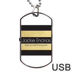 Jackie Encinas Dog Tag USB Flash (One Side)