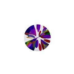 Colorful abstract flower 1  Mini Buttons