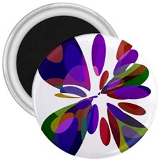 Colorful abstract flower 3  Magnets