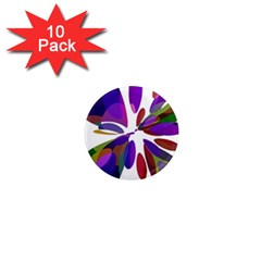 Colorful abstract flower 1  Mini Magnet (10 pack)