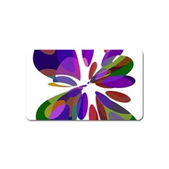 Colorful abstract flower Magnet (Name Card)