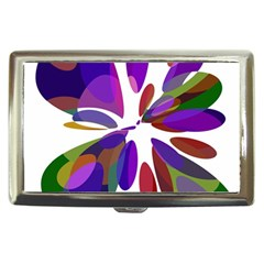 Colorful abstract flower Cigarette Money Cases