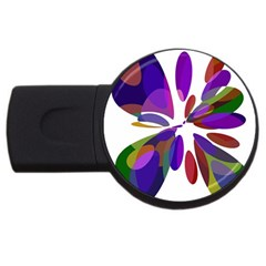 Colorful abstract flower USB Flash Drive Round (4 GB)