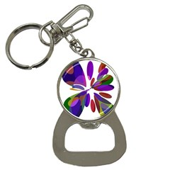 Colorful abstract flower Bottle Opener Key Chains