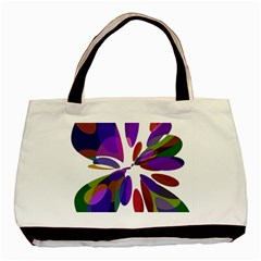 Colorful abstract flower Basic Tote Bag