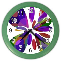 Colorful abstract flower Color Wall Clocks