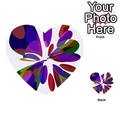 Colorful abstract flower Multi-purpose Cards (Heart)