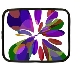 Colorful abstract flower Netbook Case (Large)