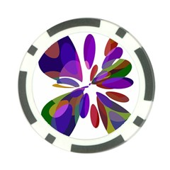 Colorful abstract flower Poker Chip Card Guards (10 pack)