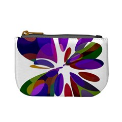 Colorful abstract flower Mini Coin Purses