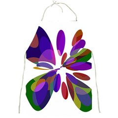 Colorful abstract flower Full Print Aprons