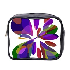 Colorful Abstract Flower Mini Toiletries Bag 2 Side