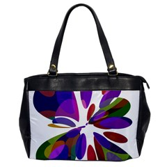 Colorful abstract flower Office Handbags