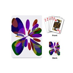 Colorful abstract flower Playing Cards (Mini)
