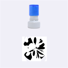 Colorful abstract flower Rubber Round Stamps (Small)