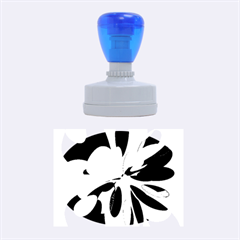 Colorful abstract flower Rubber Oval Stamps