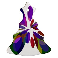 Colorful abstract flower Christmas Tree Ornament (2 Sides)