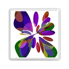 Colorful abstract flower Memory Card Reader (Square)