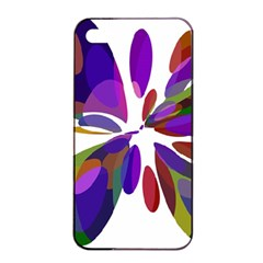 Colorful abstract flower Apple iPhone 4/4s Seamless Case (Black)