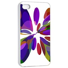 Colorful abstract flower Apple iPhone 4/4s Seamless Case (White)