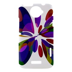 Colorful abstract flower HTC One X Hardshell Case
