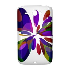 Colorful abstract flower HTC ChaCha / HTC Status Hardshell Case