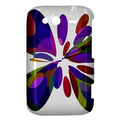 Colorful abstract flower HTC Wildfire S A510e Hardshell Case