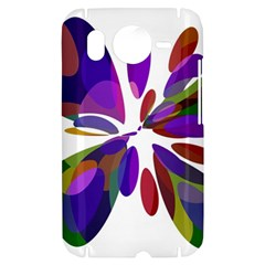 Colorful abstract flower HTC Desire HD Hardshell Case