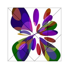 Colorful abstract flower Acrylic Tangram Puzzle (6  x 6 )