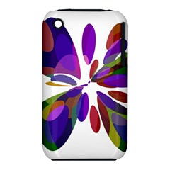 Colorful abstract flower Apple iPhone 3G/3GS Hardshell Case (PC+Silicone)