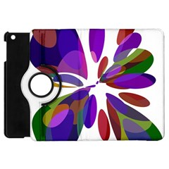 Colorful abstract flower Apple iPad Mini Flip 360 Case
