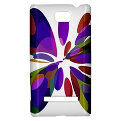 Colorful abstract flower HTC 8S Hardshell Case