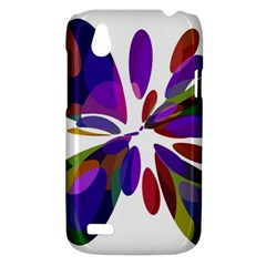 Colorful abstract flower HTC Desire V (T328W) Hardshell Case