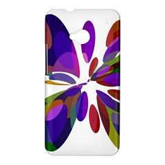 Colorful abstract flower HTC One M7 Hardshell Case