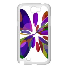 Colorful abstract flower Samsung Galaxy Note 2 Case (White)