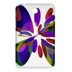 Colorful abstract flower Samsung Galaxy Tab 3 (7 ) P3200 Hardshell Case